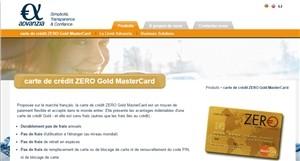 Carte Zero MasterCard
